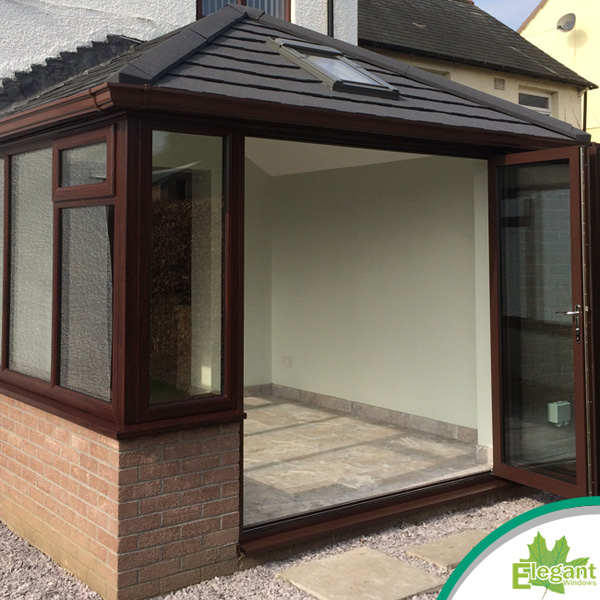 Solid roof conservatory build in Blackwood